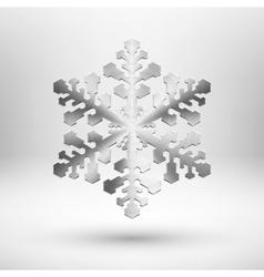 Abstract metal Christmas snowflake vector image vector image