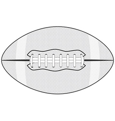 an american football ball isolated in white vector image vector image