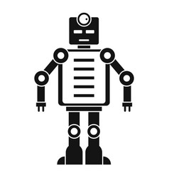 Artificial intelligence robot icon simple style vector