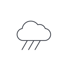 Cloud rain weather thin line icon linear vector