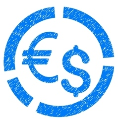 Currency diagram grainy texture icon vector