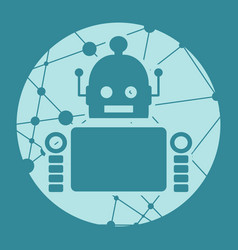 Cute abstrat robot vector