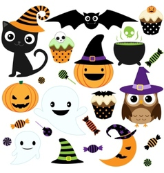 Cute halloween party vector