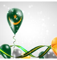 Flag of mauritania on balloon vector
