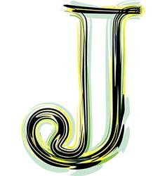 font letter J vector image vector image