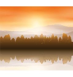 Forest landscape background vector image vector image