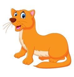 funny Weasel cartoon vector image