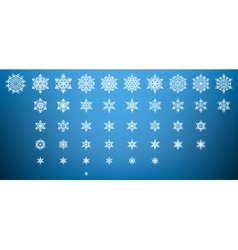 Generated snowflakes eps 10 vector