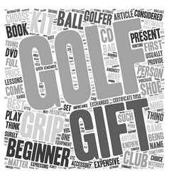 Golf gifts and golf grip kits text background vector