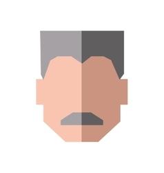 Grandfather male man hair grey icon vector