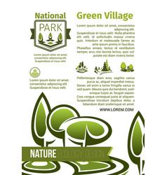 Green parks landscape design poster vector