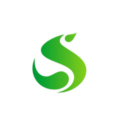 letter s abstract green logo vector image vector image