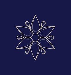line design element for logo Floral logo template vector image