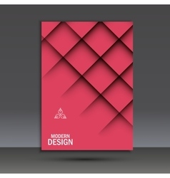 Modern brochure design template with vector image vector image