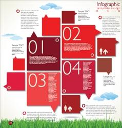Modern red design template vector