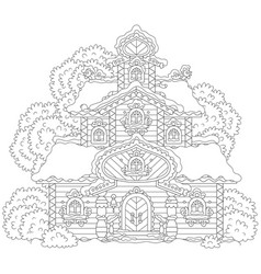 Ornate tower on christmas vector