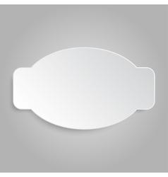 Paper Banner Design Mockup vector image