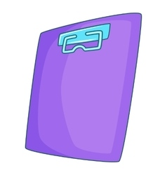 Plane tablet icon cartoon style vector
