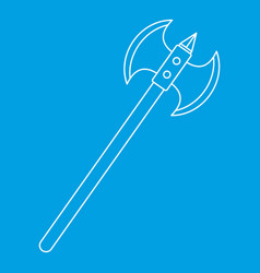 poleaxe icon outline style vector image vector image