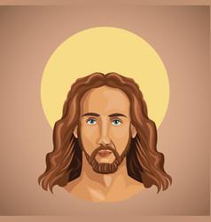 portrait jesus christ spirituality vector image vector image