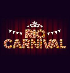 rio carnival background carnival vintage vector image