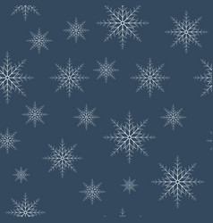 Seamless snowflakes pattern eps10 vector