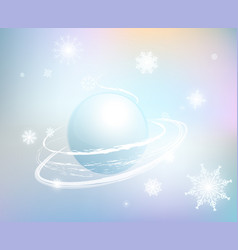 snow-background-1 vector image vector image