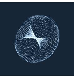 Torus consisting of points 3d grid design vector