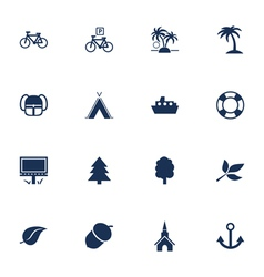 Tourism and leisure icons vector