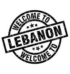 Welcome to lebanon black stamp vector