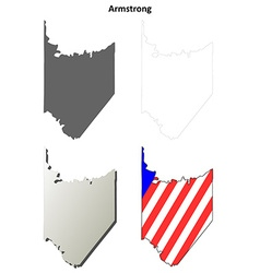 Armstrong map icon set vector