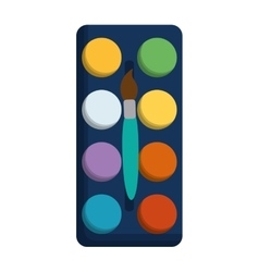 Paint pallete isolated icon vector