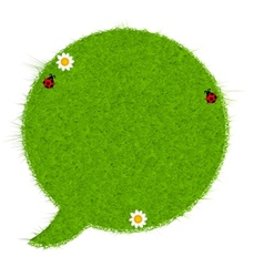 Gresh green grass speech bubble vector image