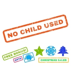 No child used rubber stamp vector