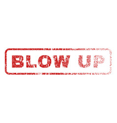 blow up rubber stamp vector image