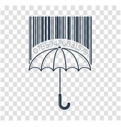 Icon barcode about shopping vector