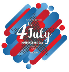 American independence day of 4th july on star vector