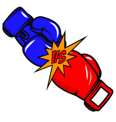 Versus boxing gloves on white background design vector