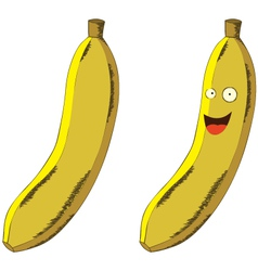 Cartoon banana vector