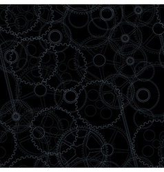 Seamless gear background vector