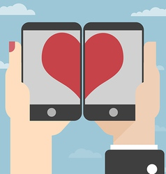 Love on mobile vector