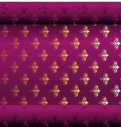 Seamless Dark Purple Wallpaper vector image