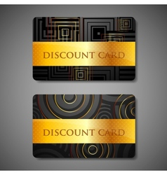 set of discount cards vector image