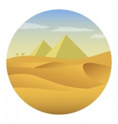 pyramids in desert vector image