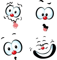 Funny cartoon face - grin vector