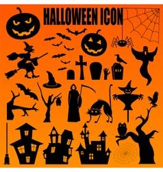 Halloween icon set holiday design vector