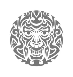 Evil face tribal tattoo ornament vector