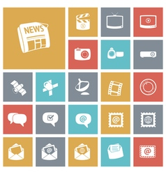 icons tile media vector image