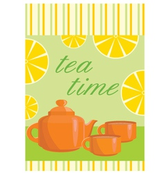 Menu tea service vector