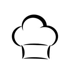 Chefs hat icon kitchen and menu design vector